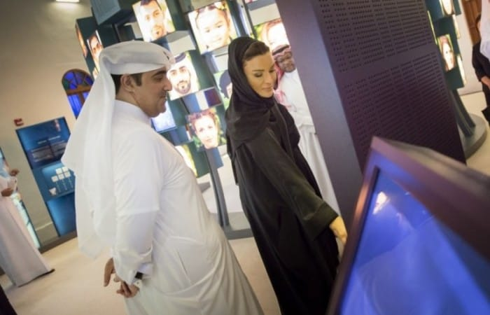 Sheikha Moza opens exhibition that focuses on DNA