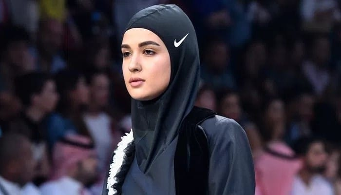 Nike's sports hijab made its debut on this Dubai catwalk