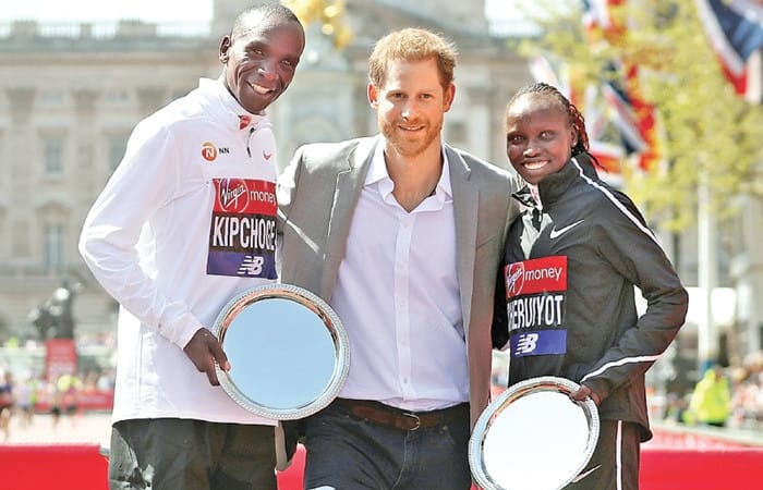 Prince Harry arrived at London Marathon after Queen started it off