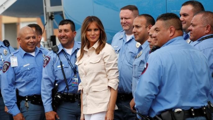 Melania Trump shows caring face of the White House during Texas visit