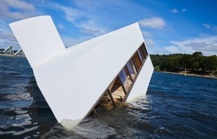 Le Corbusier's Villa Savoye sunk in Danish fjord: Flooded Modernity