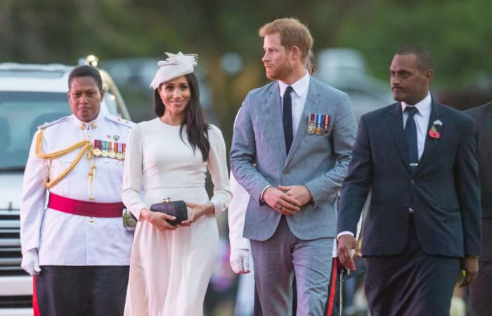 Duke and Duchess of Sussex get warm welcome as they arrive in Fiji