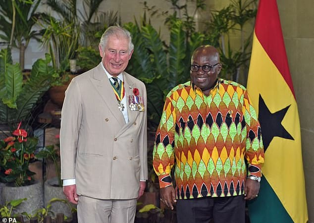 Ghana rolls out the red carpet for Prince Charles, Duchess Camilla as they touch down