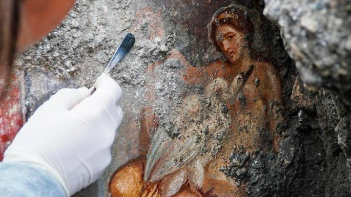 Science: 'Sensual' Pompeii fresco of Leda and the swan unearthed