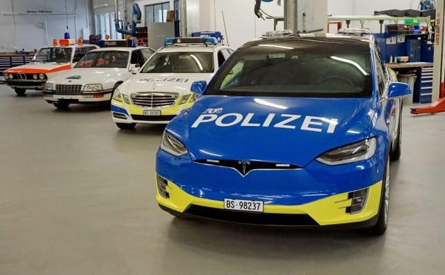 Switzerland's Basel police unveil cool new customized Tesla response cars
