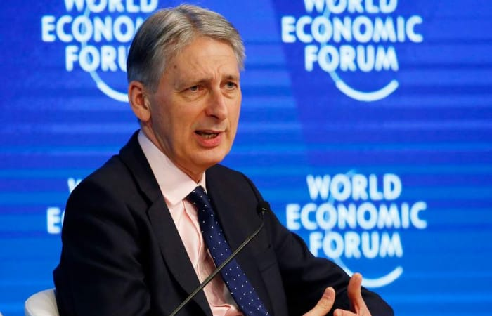 Philip Hammond pulls out of key discussion on Europe in Davos