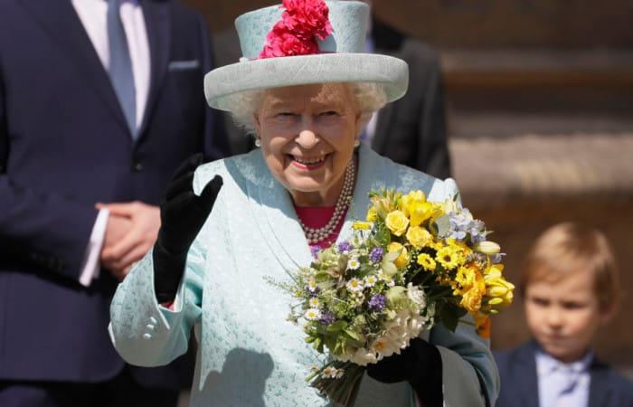 Queen attends an Easter service on her 93rd birthday