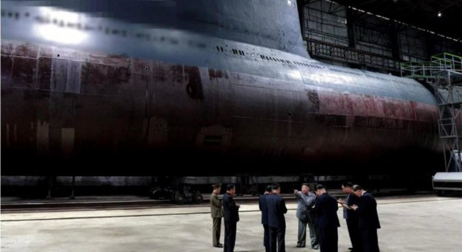 New North Korean submarine capable of carrying three ballistic missiles