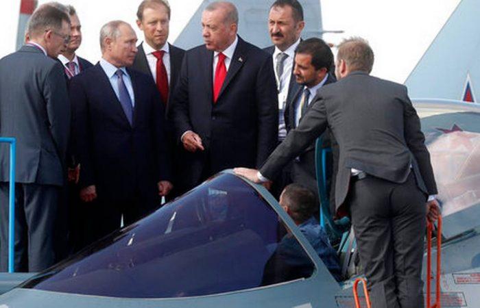 Turkey's President Erdogan opens air show in Russia