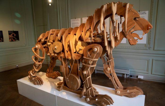 Leonardo da Vinci's mechanical lion is now on display in Paris