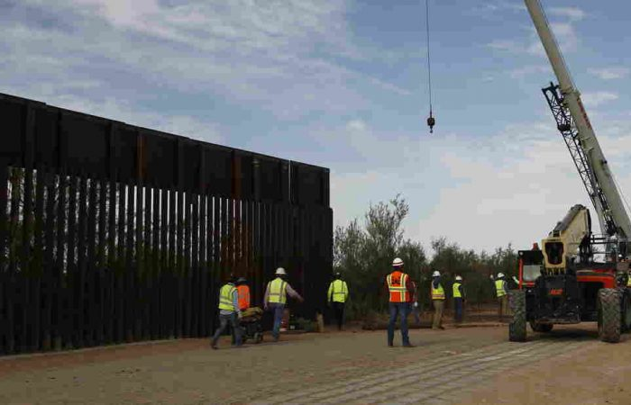 Donald Trump says border wall being built 'very rapidly'