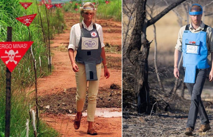 Prince Harry retraces  his mother's footsteps at Angola landmine fields