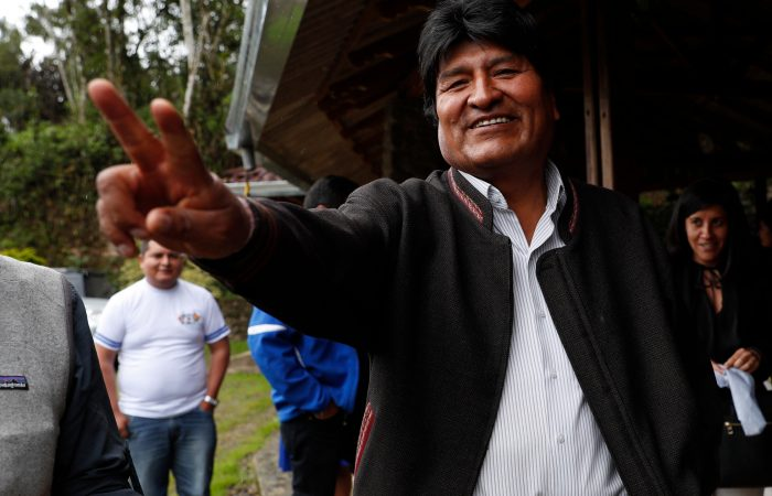 Bolivian president celebrates victory in general elections