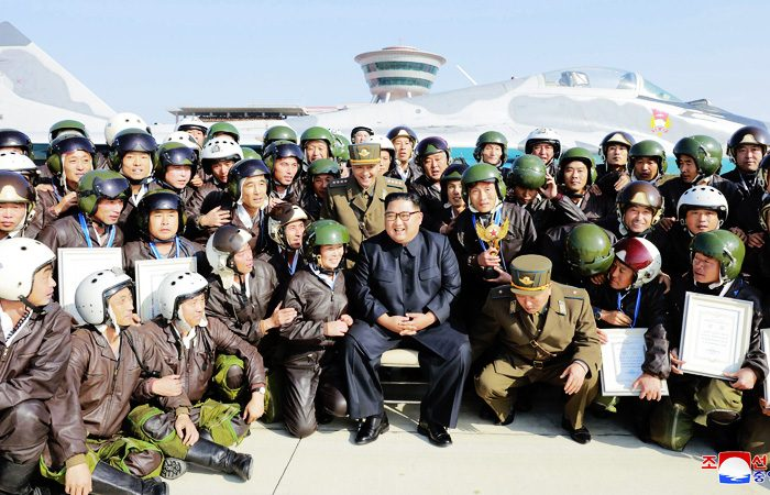 North Korea: Kim Jong Un attended military air show