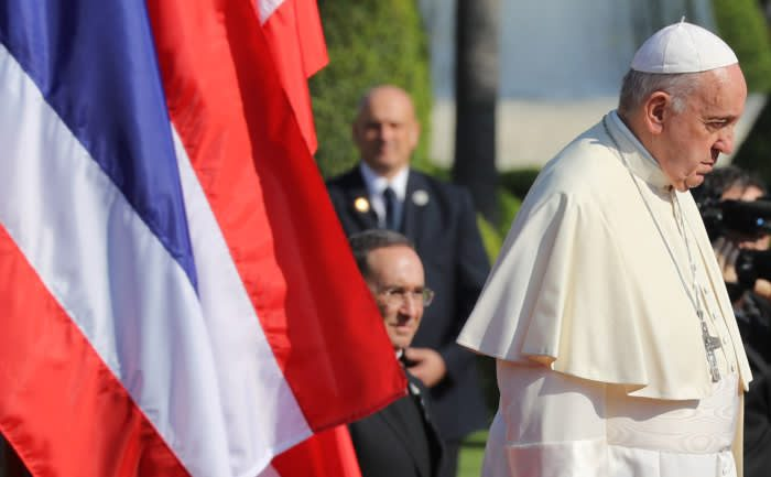 Gesture of reconciliation: Pope Francis meets Thai king