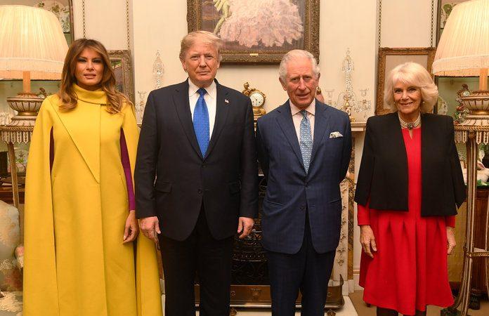 Melania, Donald Trump meet royals at Buckingham Palace