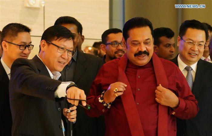 Sri Lanka PM opens Chinese-backed port