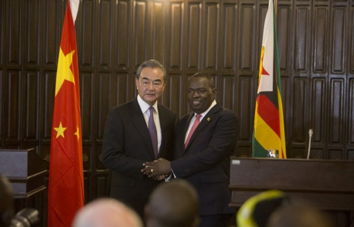 Chinese foreign minister meets Zimbabwe's president
