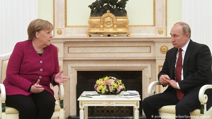 Vladimir Putin, Angela Merkel push ahead with pipeline Nord Stream 2