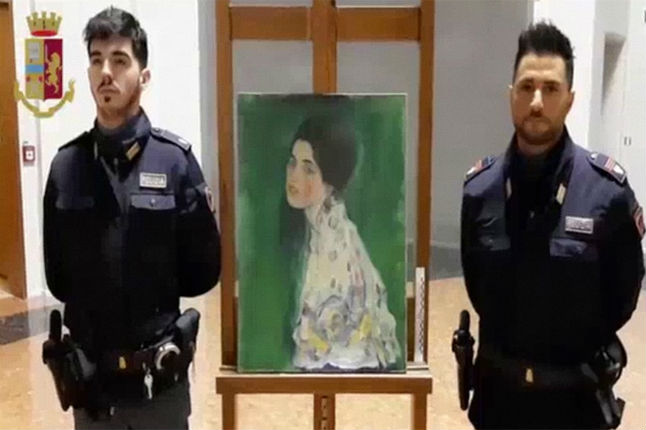 Painting found in Italy wall confirmed as stolen Klimt