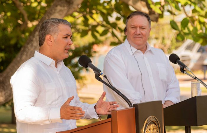 US secretary of State visited Colombia
