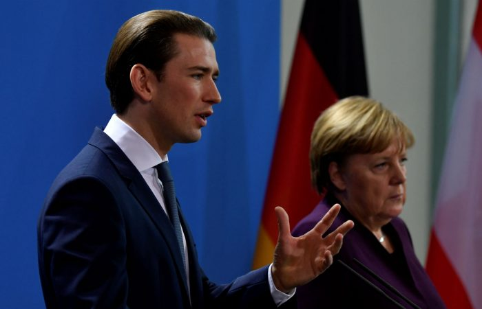 Austria's Kurz backs Merkel rejection of far-right