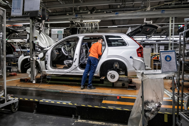 Volvo suspends car production in Europe, US
