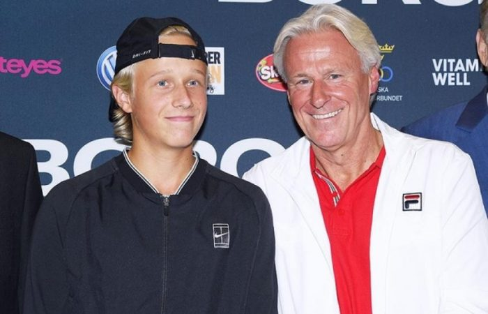 Tennis: Bjorn Borg's son Leo taking his first steps into the ATP