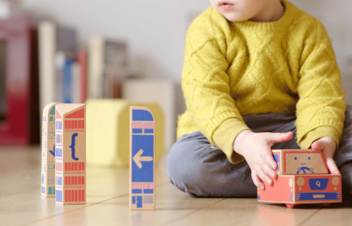 Wooden blocks teach coding through tactile, off-screen play
