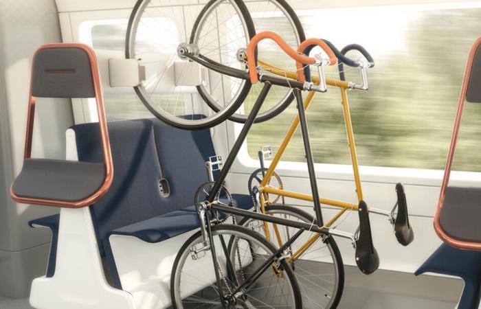 Flexible train interior creates more space for social distancing