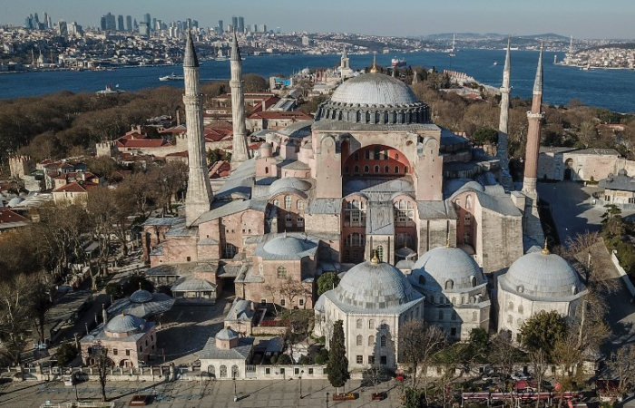 Pope Francis 'very distressed' over Hagia Sophia