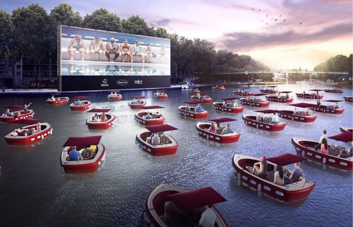 Paris Beaches open with floating cinema on the Seine