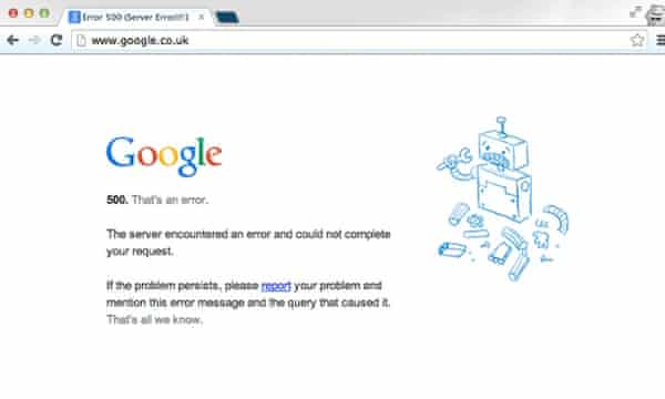 Google services, Gmail, YouTube down worldwide