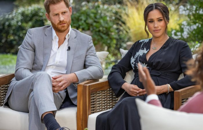 Meghan, Harry don't look happy after awful interview