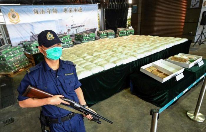 Hong Kong police seize record 700 kilos of cocaine