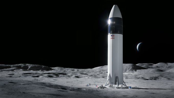 SpaceX wins bid for lunar lander to put first woman on moon
