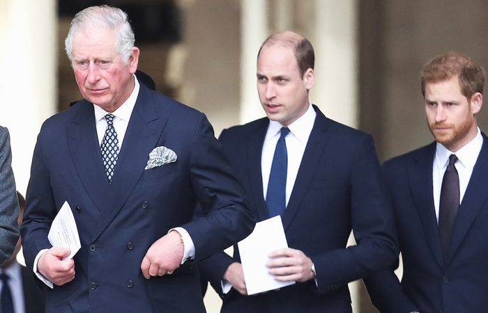 Charles, William, Harry are reunited in Windsor as the trio meet for a two hour catch up
