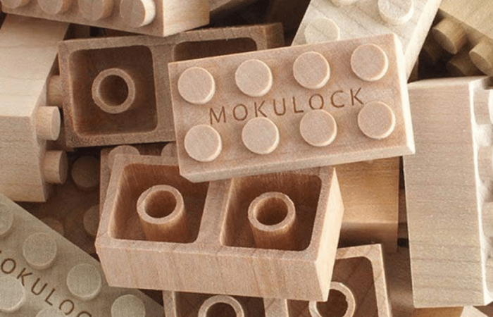 Natural wood, LEGO-like blocks offer a sustainable alternative