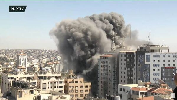 Israeli forces demolish media building in Gaza