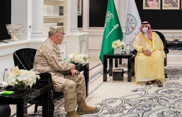 Saudi Deputy Defense Minister meets commander of US Central Command