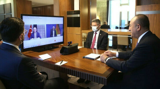 Turkish FM holds video conference with German minister