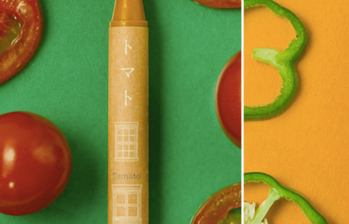 Crayons made with food-grade ingredients from discarded vegetables