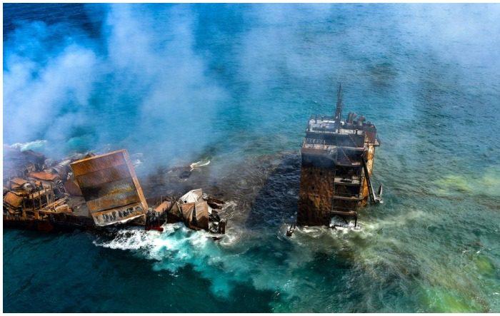 Cargo ship carrying tonnes of chemicals sank off Sri Lanka's coast