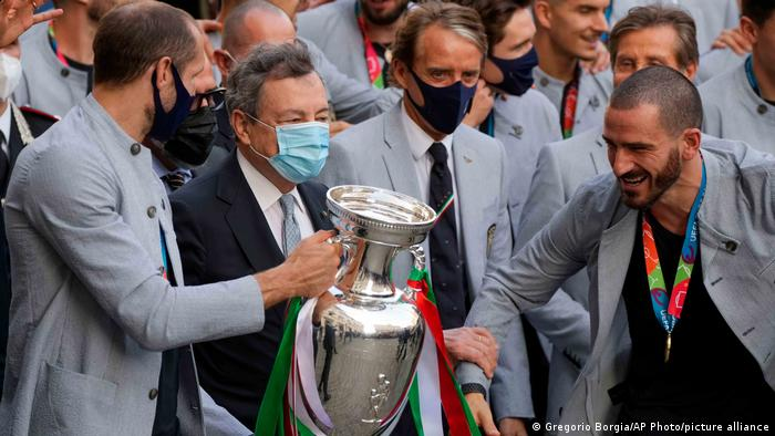 Italy's football heroes return after Euro 2020 triumph