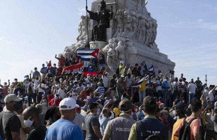 Cuba shaken by the anti-government protests
