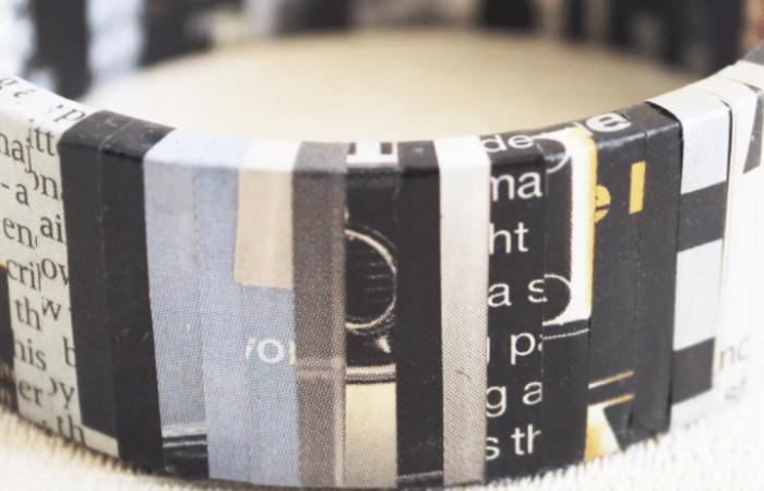 Zero-waste design studio turns paper into jewellery