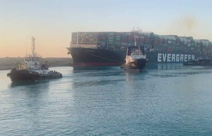 Ever Given returning to Suez Canal after six-day blockage in March