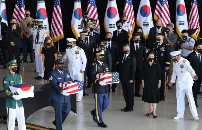 South Korea's Moon attends war remains transfer in Hawaii