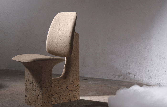 A stylish home furniture collection could be made of salvaged cork